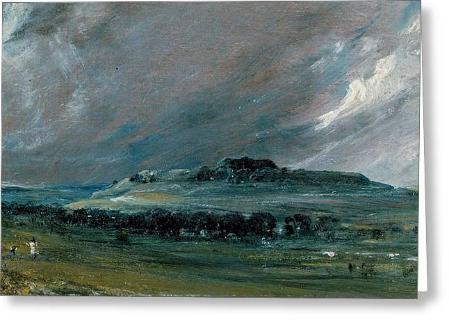 Constable Greeting Cards - Old Sarum Greeting Card by John Constable