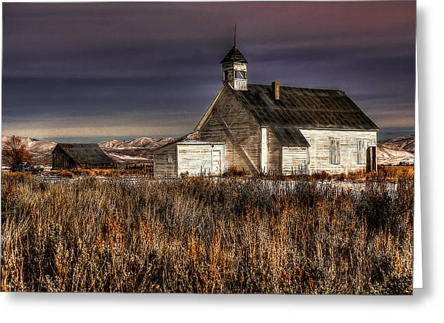 Corral Greeting Cards - Old School Greeting Card by Ryan Smith