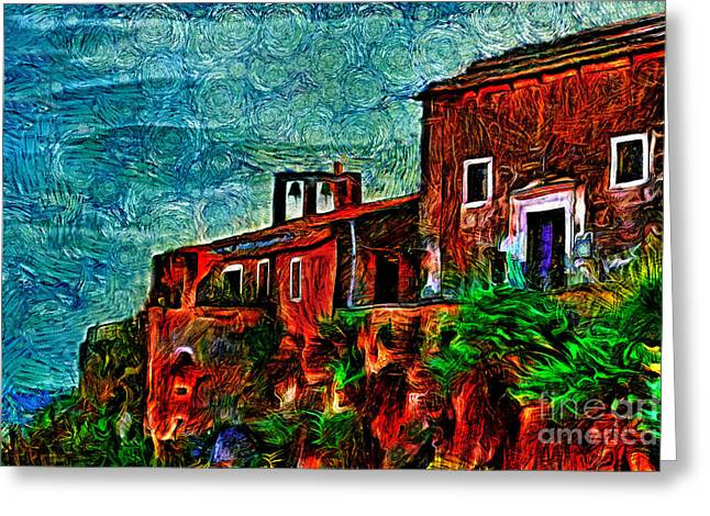 Old Maine Houses Greeting Cards - Old Sea House  Greeting Card by Milan Karadzic