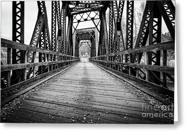 Old Steel Train Bridge Greeting Card by Edward Fielding