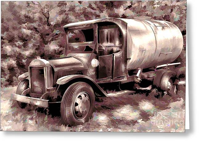 Rustic Truck Greeting Cards - Old Timer Greeting Card by Arnie Goldstein