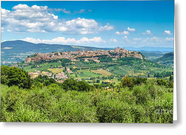 Historic Architecture Greeting Cards - Old town of Orvieto, Umbria, Italy Greeting Card by JR Photography