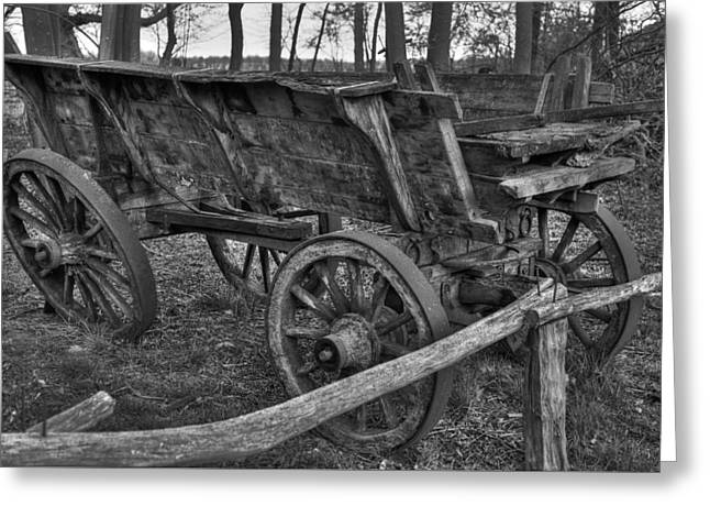 Wooden Wagons Greeting Cards - Old Wagon Greeting Card by Skitterphoto