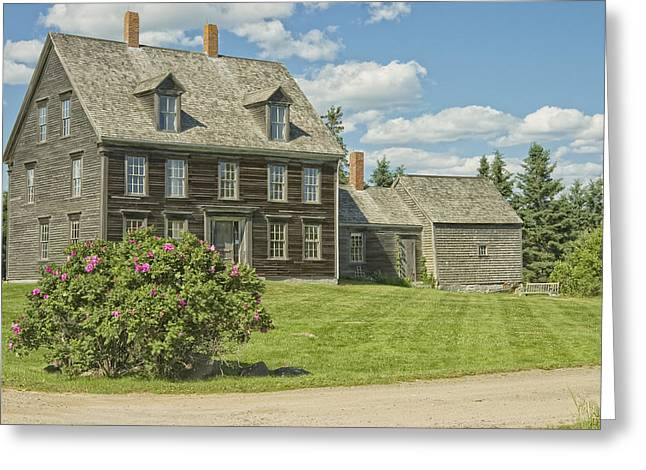 Maine Farmhouse Greeting Cards - Olsen House Cushing Maine Greeting Card by Keith Webber Jr