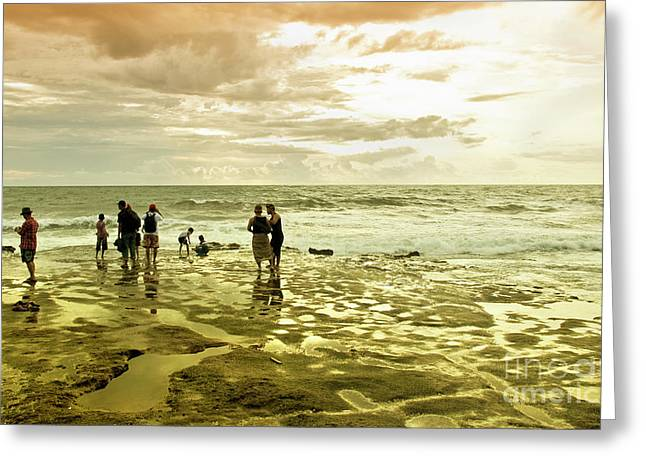 After Sunset Greeting Cards - On The Beach Greeting Card by Charuhas Images