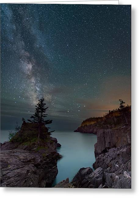 Lubec Greeting Cards - On the Edge Greeting Card by Michael Blanchette