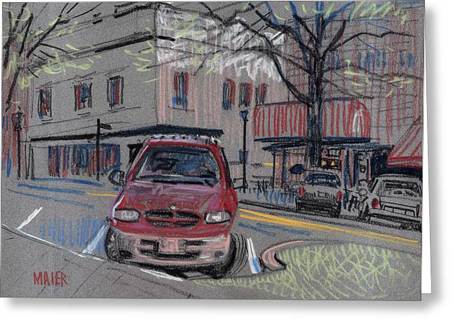 Air Pastels Greeting Cards - On The Square Greeting Card by Donald Maier
