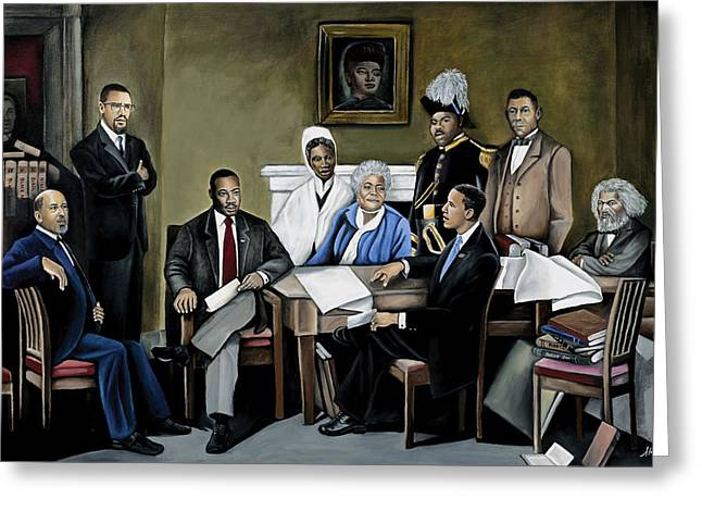 Black Leaders. Greeting Cards - One Day Greeting Card by Stacy V McClain
