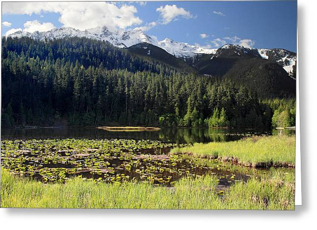 Peak One Greeting Cards - One Mile Lake Landscape Greeting Card by Pierre Leclerc Photography
