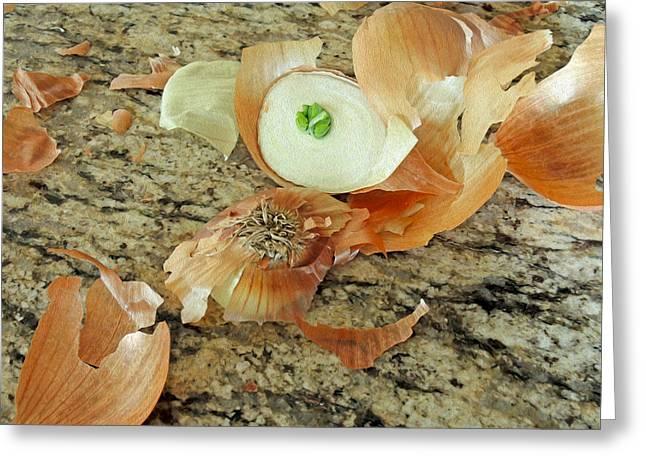 Layer Greeting Cards - Onion Skins Greeting Card by Lynda Lehmann