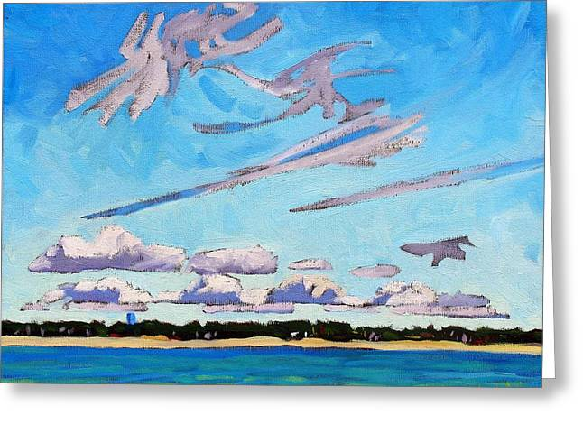 Algonquin Greeting Cards - Southampton Lake Breeze CU Greeting Card by Phil Chadwick