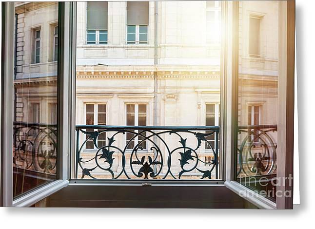 Open Window In Toulouse Greeting Card by Elena Elisseeva