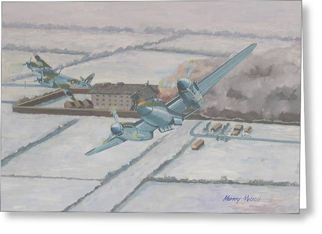 Bombercommand Greeting Cards - Operation Jericho  Greeting Card by Murray McLeod