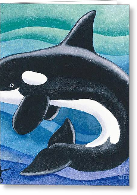 Killer Whale Greeting Cards - Orca Friend Greeting Card by Paul Brent