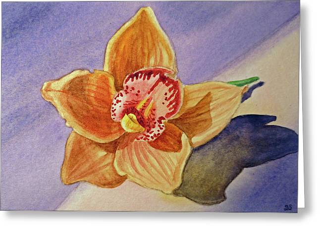 Thank You Greeting Cards - Orchid Greeting Card by Irina Sztukowski
