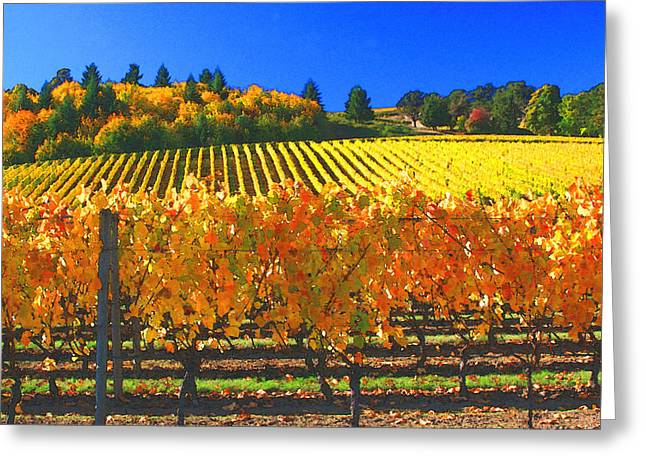 Wine Tasting Greeting Cards - Oregon Wine Country Greeting Card by Margaret Hood