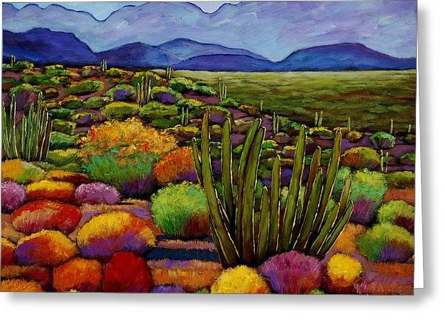 Cactus Flowers Greeting Cards - Organ Pipe Greeting Card by Johnathan Harris