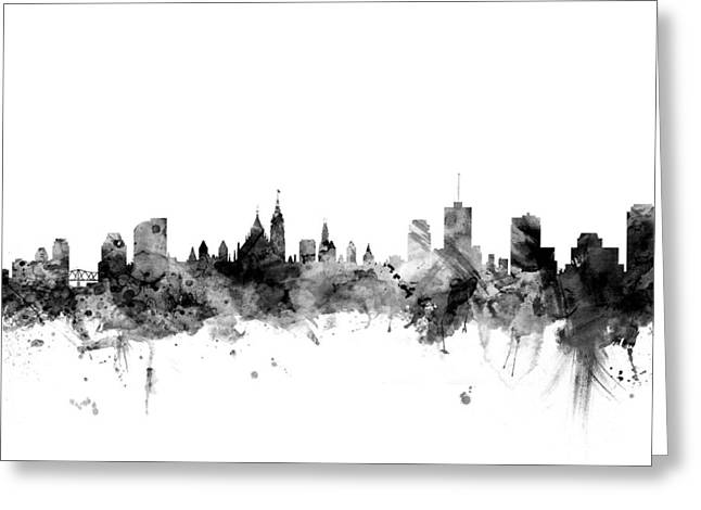 Ottawa Canada Skyline Greeting Card by Michael Tompsett