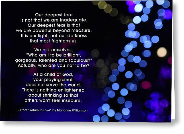Our Deepest Fear 1 Greeting Card by Mike Flynn