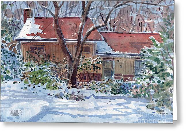 Our House Greeting Card by Donald Maier