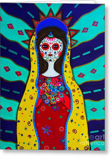 Carter House Greeting Cards - Our Lady Of Guadalupe Greeting Card by Pristine Cartera Turkus