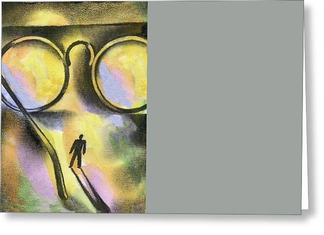 Business Woman Greeting Cards - Outlook Greeting Card by Leon Zernitsky