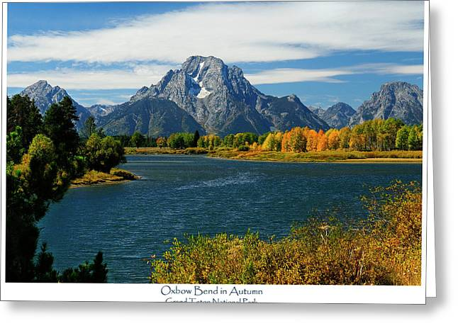 Moran Greeting Cards - Oxbow Bend In Autumn Greeting Card by Greg Norrell