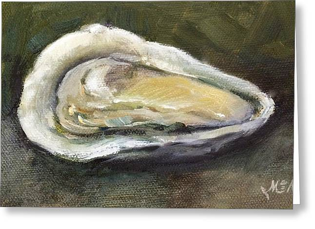 Oyster On Half-shell Greeting Cards - Oyster Greeting Card by Michel McNinch