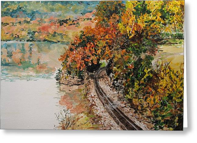 Arkansas Paintings Greeting Cards - Ozark Fall Greeting Card by Sharon  De Vore
