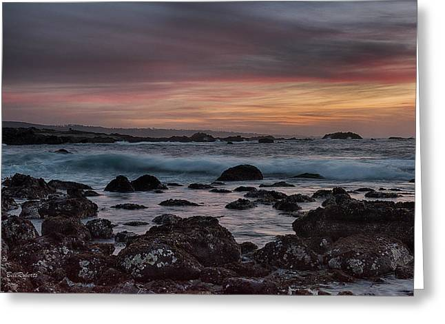Pacific Ocean Sunset Greeting Cards - Pacific Grove Sunset Greeting Card by Bill Roberts