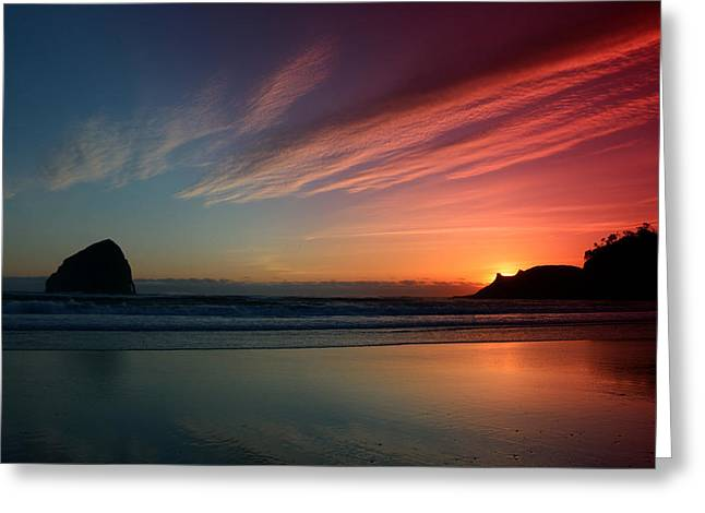 Pacific Ocean Prints Greeting Cards - Pacific Sunset Greeting Card by Kami McKeon