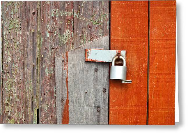 Safe Greeting Cards - Padlock Greeting Card by Tom Gowanlock