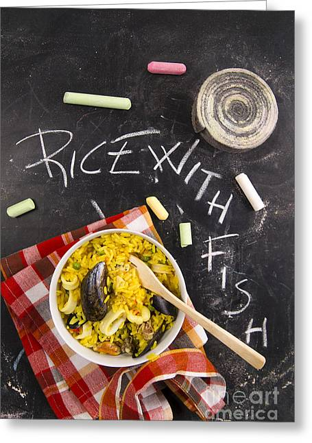 Paella Greeting Cards - Paella Greeting Card by Marco Guidi