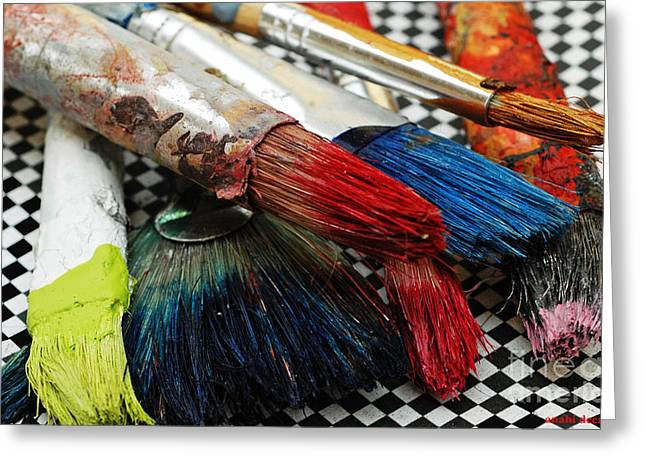 Fancy Eye Candy Greeting Cards - Paint brushes Greeting Card by Anahi DeCanio
