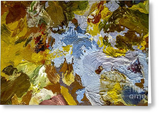 Painter's Palette Greeting Card by Bernard Jaubert