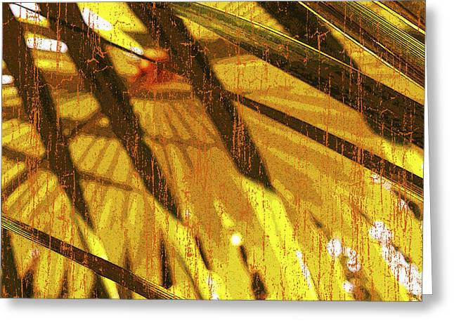 Palm Trees Mixed Media Greeting Cards - Palm B4 Greeting Card by Kaypee Soh - Printscapes