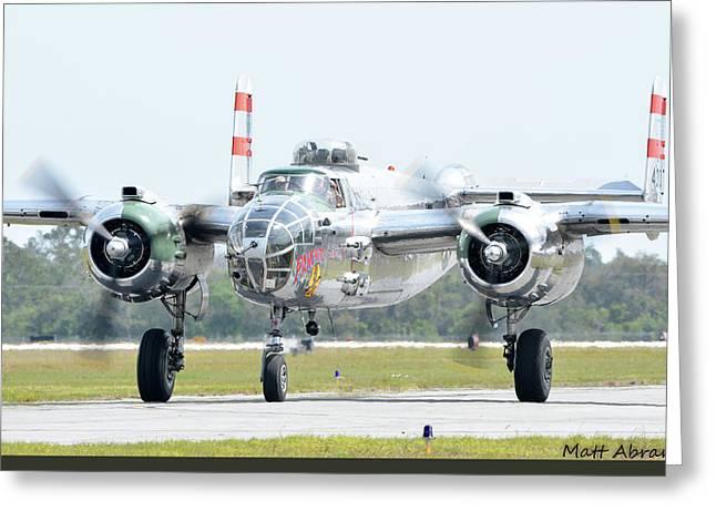 North American B-25j Mitchell Photographs Greeting Cards - Panchito Greeting Card by Matt Abrams