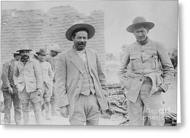 Pancho Villa, Mexican Revolutionary Greeting Card by Science Source