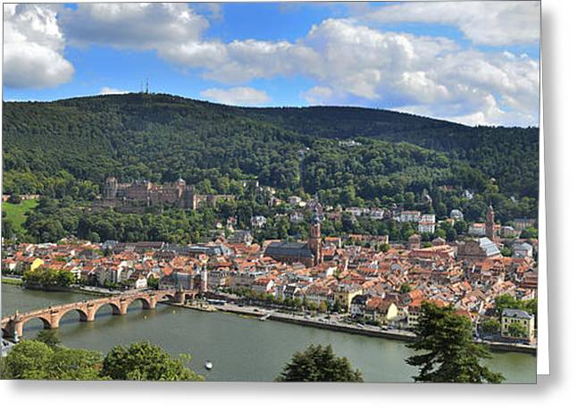 The Church Greeting Cards - Panorama Heidelberg Greeting Card by Travel Images Worldwide