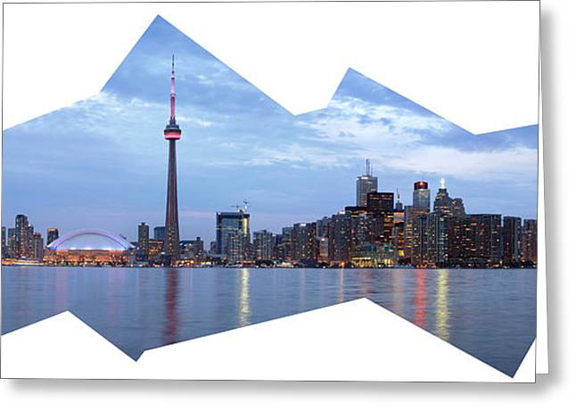 Center Part Greeting Cards - Panorama of the City of Toronto Greeting Card by Oleksiy Maksymenko