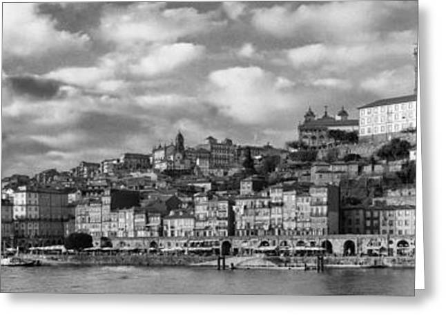 Panorama Of The Ribeira District Of The City Of Porto Greeting Card by Jose Elias - Sofia Pereira