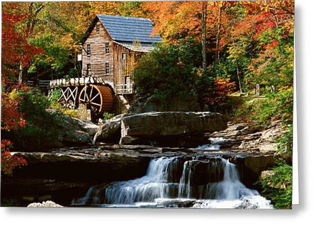 Panoramic Of Glade Creek Grist Mil Greeting Card by Panoramic Images