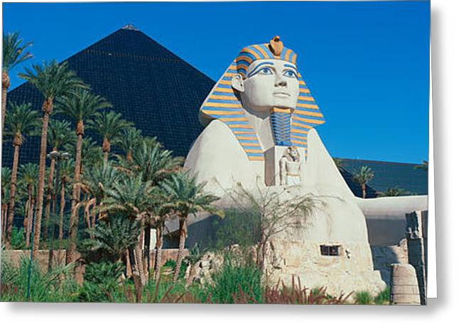 Luxor Greeting Cards - Panoramic View Of Luxor Hotel Greeting Card by Panoramic Images