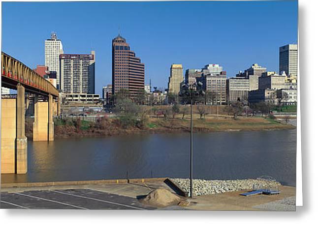 Tn Greeting Cards - Panoramic View Of Memphis, Tn Skyline Greeting Card by Panoramic Images