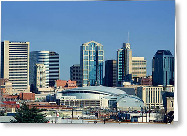 Panoramic View Of Nashville, Tennessee Greeting Card by Panoramic Images