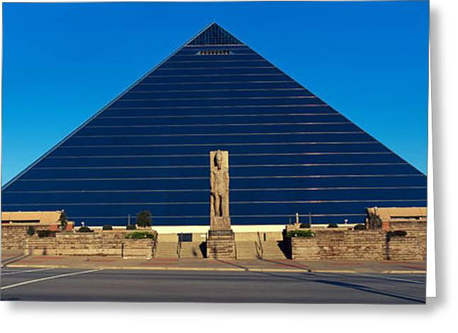 Panoramic View Of The Pyramid Sports Greeting Card by Panoramic Images