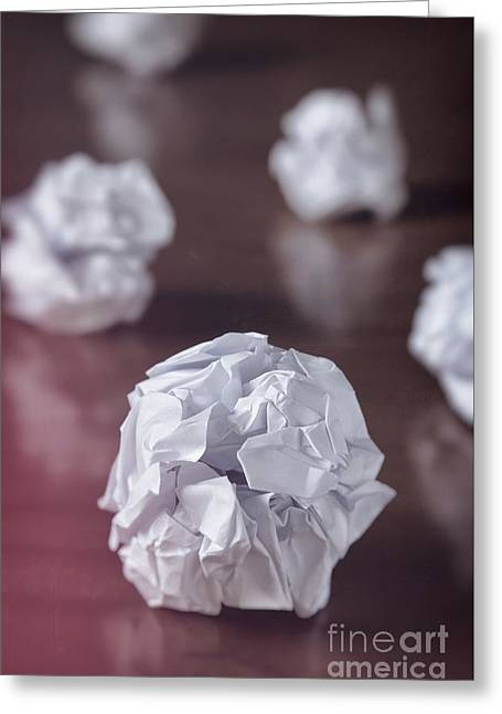Problem Greeting Cards - Paper balls Greeting Card by Carlos Caetano