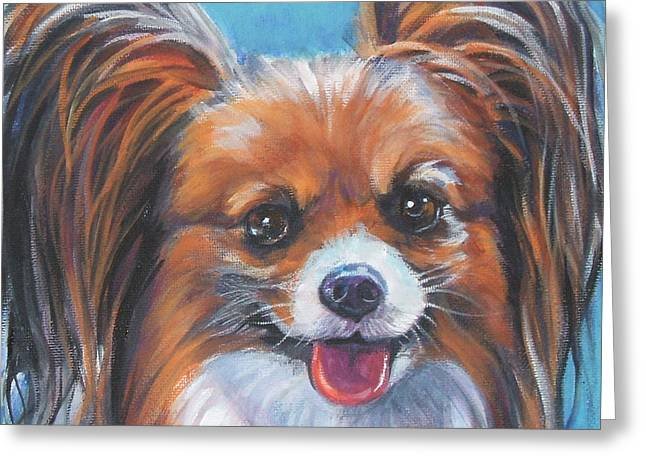 Papillon Dog Greeting Cards - Papillon Greeting Card by Lee Ann Shepard