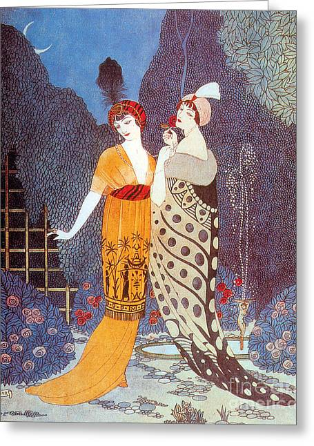 Popular Art Greeting Cards - Paquin Dress, George Barbier Greeting Card by Science Source