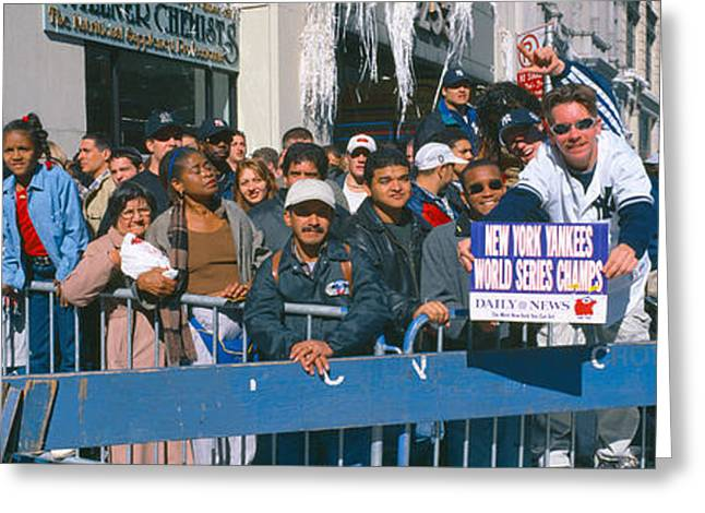 Parade For 1998 World Series Champions Greeting Card by Panoramic Images